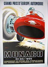 Monaco Grand Prix 1955 Car Race Poster