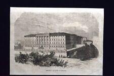 Veduta dell'Ospedale Militare di Verona Incisione del 1867