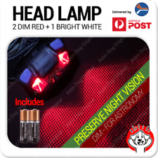 Red Light LED Astronomy Headlamp for Night Vision with Batteries