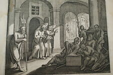 GRAVURE SUR CUIVRE PIERRE DELIVRE PRISON-BIBLE 1670 LEMAISTRE DE SACY (B243)