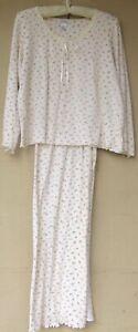 Jockey Cotton Knit Rose Bud Pajamas  Medium