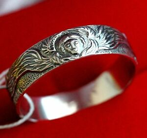 Russian Orthodox Prayer Ring. Sterling Silver925 Guardian Angel Save And Protect