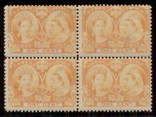 CANADA #51 1¢ Jubilee, Block of 4, og, NH, fresh and fine, Scott $300.00