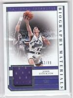 2018-19 John Stockton Jersey #/99 Panini National Treasures