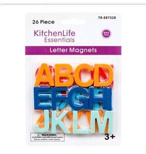26 Colorful ABC Alphabet Letter Fridge Magnet Letters BPA Free Toy Educational