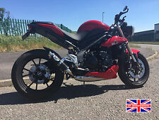 Triumph Speed Triple 2016+ SP Engineering Satin Black Stubby Moto GP 3-1 Exhaust