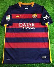 BARCELONA 2015/2016 HOME FOOTBALL SOCCER SHIRT JERSEY CAMISETA BOYS SIZE XL