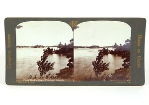 """Canadian Scenery Stereoview """"From Devil's Oven, 1000 Isles."""" Nerlich & Co ©1905"""