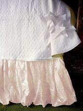 """Soft Surroundings Balloon Bedskirt Natural Queen 18"""" Drop"""