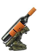Kitchen Halloween Skeleton Skull Bar Decoration Wine Bottle Holder Bronze Statue