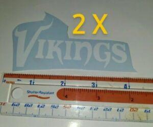 "Minnesota Vikings decals Team 2X White Vinyl 2""x4"""