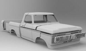 STL files body Ford f150 long 385mm wheelbase 1974 Axial 3D printer