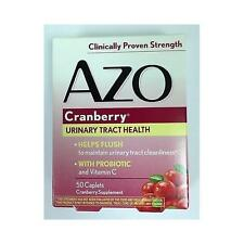 AZO Cranberry Supplement 50 Caplets, Urinary Tract Heath, w/ Probiotic