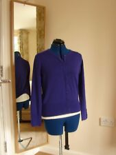 BNWOT Debenhams The Collection size 10 purple viscose blend long sleeve cardigan
