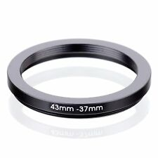 RISE(UK) 43mm-37mm 43-37 mm 43 to 37 Step down Ring Filter Adapter black