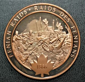 1866 Fenian Raids: 1972 History of Canada Proof Bonze Medal
