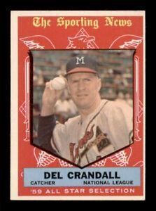 1959 Topps Set Break # 567 Del Crandall All Star EX *OBGcards*
