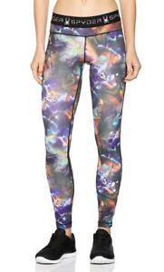 Spyder Slash Tight Tye Dye Print Base Layer Ski Pants Women's XS X-Small NEW $89