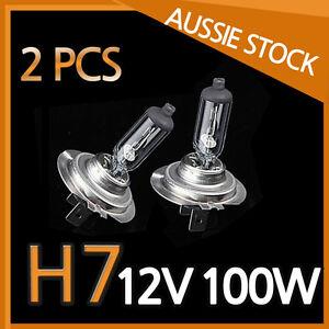H7 Halogen Light Bulbs Headlight Globes 12V 100W Yellow Warm White CAR NEW 2PCS