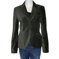 Charles Nolan New York Womens Sz 6 Blazer Velvet Schoolboy Style Forest Green