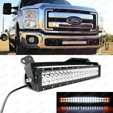 White/Amber Strobe LED Ligth Bar w/Lower Bumper Bracket, Wiring: 11-16 F250 F350