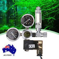 NEW Aquarium Dual Gauge CO2 Pressure Regulator Bubble Counter Solenoid Valve