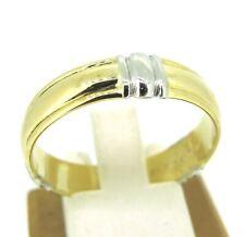 18k Yellow Gold & Platinum Two Tone Mens Wedding Band Ring Size 12