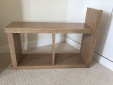 Sofa / Chair Console Side Table - Magazine Table - Pale Wood
