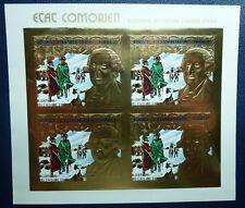 Komoren Comores 1976 Unabhängigkeit USA G. Washington Gold 264 B Kleinbogen MNH