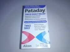 Pataday Twice Daily Eye Allergy Itch & Redness Relief 5 mL NEW! exp 11/21-12/21