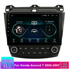 10.1'' Android 9.1 Stereo Radio GPS  Mirror Link OBD For Honda Accord 2003-2007