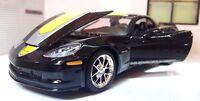 1:24 Scale Chevrolet Corvette Z06 GT1 2009 Black Commemorative Maisto Model Car