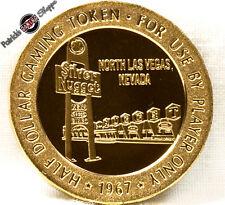 $.50 CENT FULL PROOF BRASS SLOT TOKEN SILVER NUGGET CASINO 1967 FM LAS VEGAS NEW