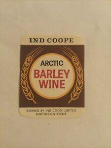 OLD BEER LABEL-Arctic Barley Wine- Ind Coope, Burton-on-Trent