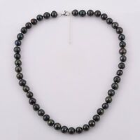 "PEACOCK FRESHWATER PEARL Necklace with 925 Silver extender lock 20""+2""  8-9 mm"