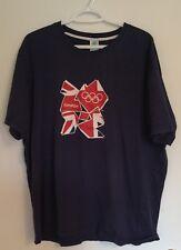 London 2012 Olympics 2XL XXL Blue T-Shirt - 100% cotton