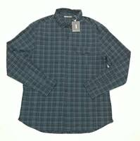 $148 Michael Bastian Men Shirt Size L Large One Pocket Plaid Roll-Up Sleeves