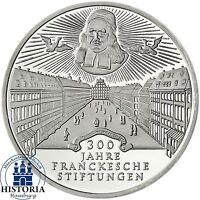 BRD 10 DM Frankesche Stiftungen 1998 Silber Stempelglanz Münze in Münzkapsel