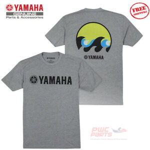 YAMAHA Men's COAST WAVE Boat Marine PWC WaveRunner Tee T-Shirt VDF-18TCT-GY-2X