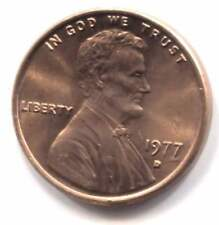 1977 D LINCOLN MEMORIAL CENT CH BU OBW ORIGINAL BANK OF AMERICA WRAPPED ROLL