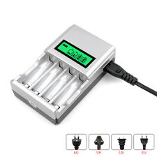 4 Slot Smart Charger For AA/AAA NiCD/NiMH Batteries with LCD Display CHARGED-UP