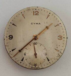 Vintage Original CYMA 586K Manual Winding Movement For Parts Doesn't Work (2)