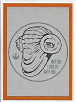Topps Star Wars Rise of Skywalker MAY THE FORCE BE WITH YOU **ORANGE** /99 FWY-1