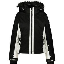 SUPERDRY Women's SUPER SLALOM Ski Jacket, Black & White - M / UK 12