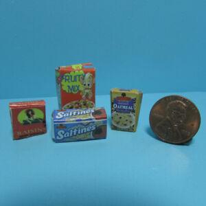 Dollhouse Miniature Detailed Replica Food Grocery Box Set of 4 IM65020