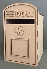 Y122 IRELAND IRISH ROYAL MAIL WEDDING LETTER Message POST BOX MDF Table Display