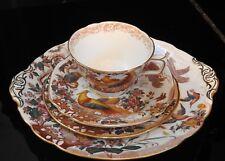 "ROYAL CROWN DERBY ""OLDE AVESBURY"" Cake Plate, Teacup & Saucer & Dessert Plate"