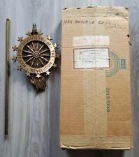 Vtg Daughters Of The American Revolution Grave Marker Brass Metal Wheel 13 Stars
