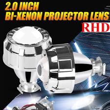 "2.0"" HID Mini Bi-Xenon Projector Lens Shroud Headlight Retrofit Hi-Lo Beam RHD"