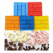 Lego Brick Style Square Sharped Silicone Ice Mold Building Blocks Ice Tray DIY